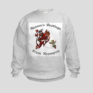 Season's Beatings [Color] Kids Sweatshirt